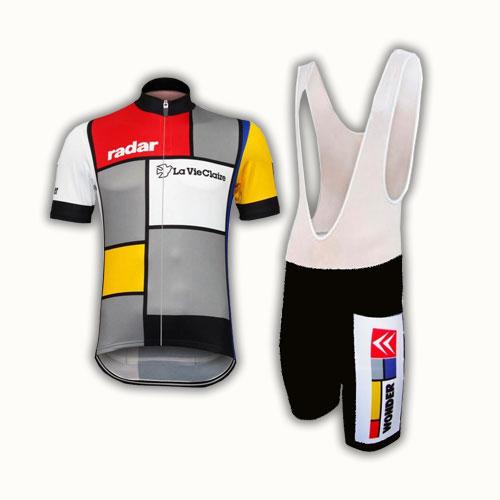 La Vie Claire Radar Retro Cycling Kit Jersey and Bib Shorts 5d85c5b29