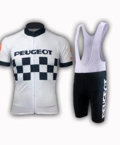 Retro Team Peugeot Shell Cycling Kit
