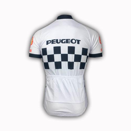 bb00ebab7 Retro Peugeot Shell Team Cycling Jersey. Retro Peugeot cycle Jersey