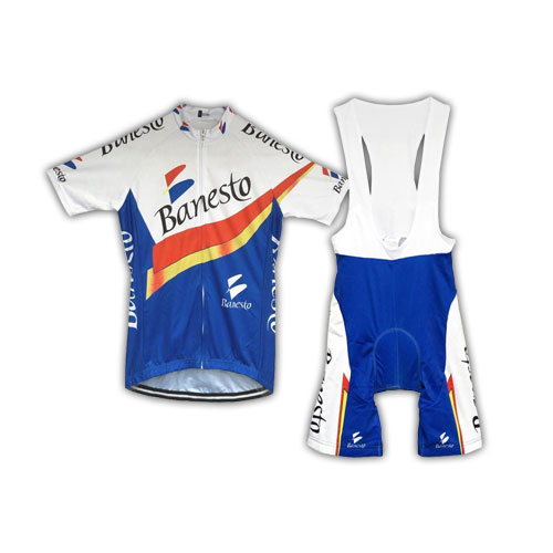 Retro Banesto Team Cycling Kit
