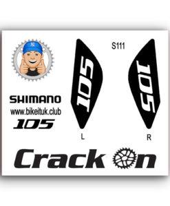 Shimano 105 Brake Lever Design Black