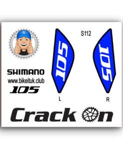 Shimano 105 Brake lever design Blue