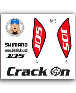 Shimano 105 Brake Lever Design Red
