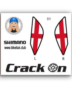 England Flag Shimano Brake Lever Design