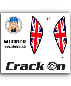British Flag Shimano Brake Lever Designs
