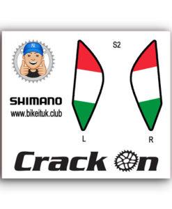 Italian Flag Shimano Brake Lever Designs