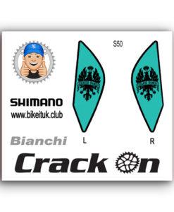 Bianchi Green Shimano Brake Lever Designs