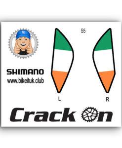 Irish Flag Shimano Brake Lever Design