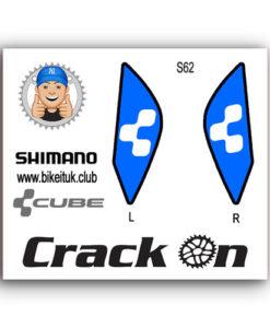 Cube Shimano Brake Lever design blue