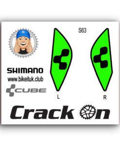 Cube Shimano Brake Lever design green