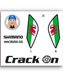Welsh Flag Shimano Brake lever Design