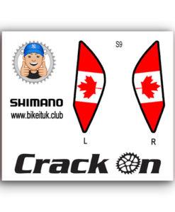Canadian Flag Shimano Brake Lever Designs