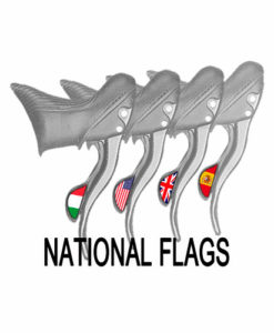 Campagnolo National Flag Stckers
