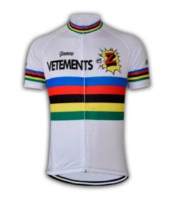Retro White Team Z Vetements Cycling Jersey