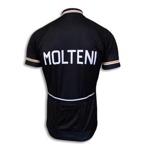 Molteni black team cycling jersey